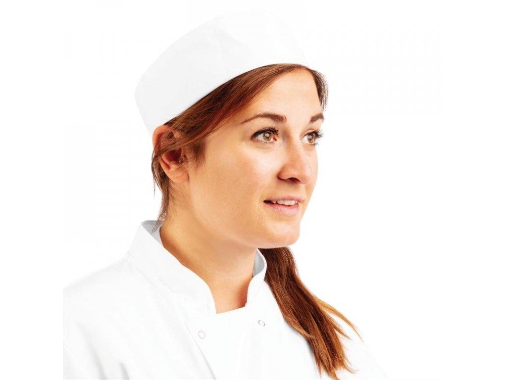 Whites Kuchárska priliehavá čiapka biela - XL