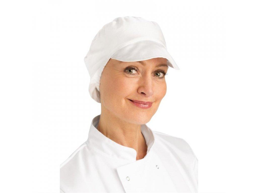 Whites Pekárska čapica so sieťkou na vlasy biela