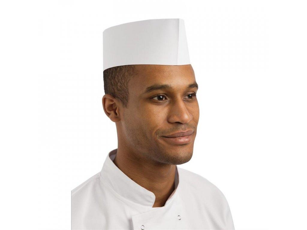 Jednorázové čapice typu lodička biele