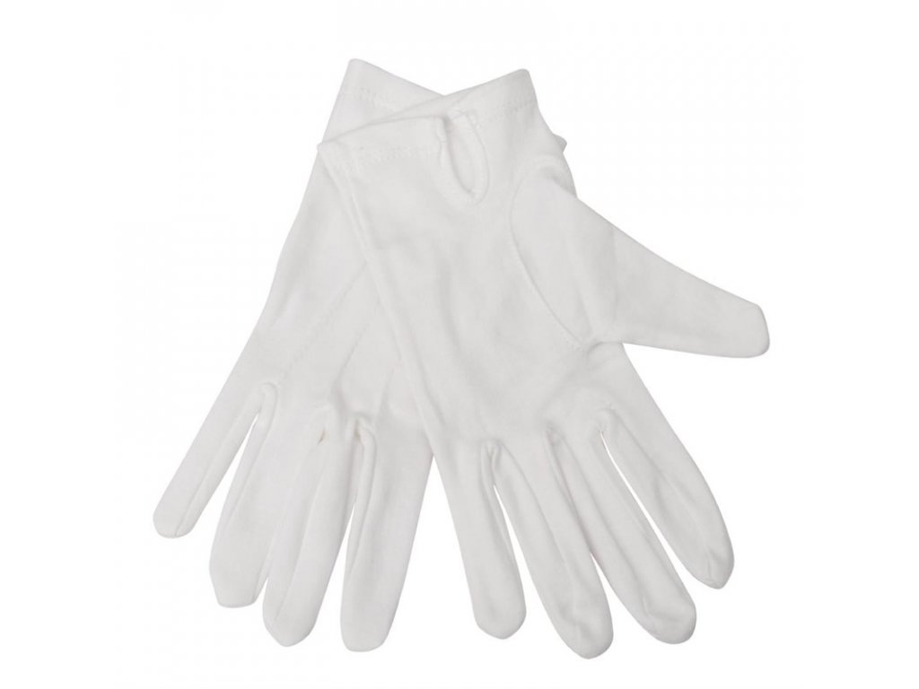 Dámske čašnícke rukavice biele