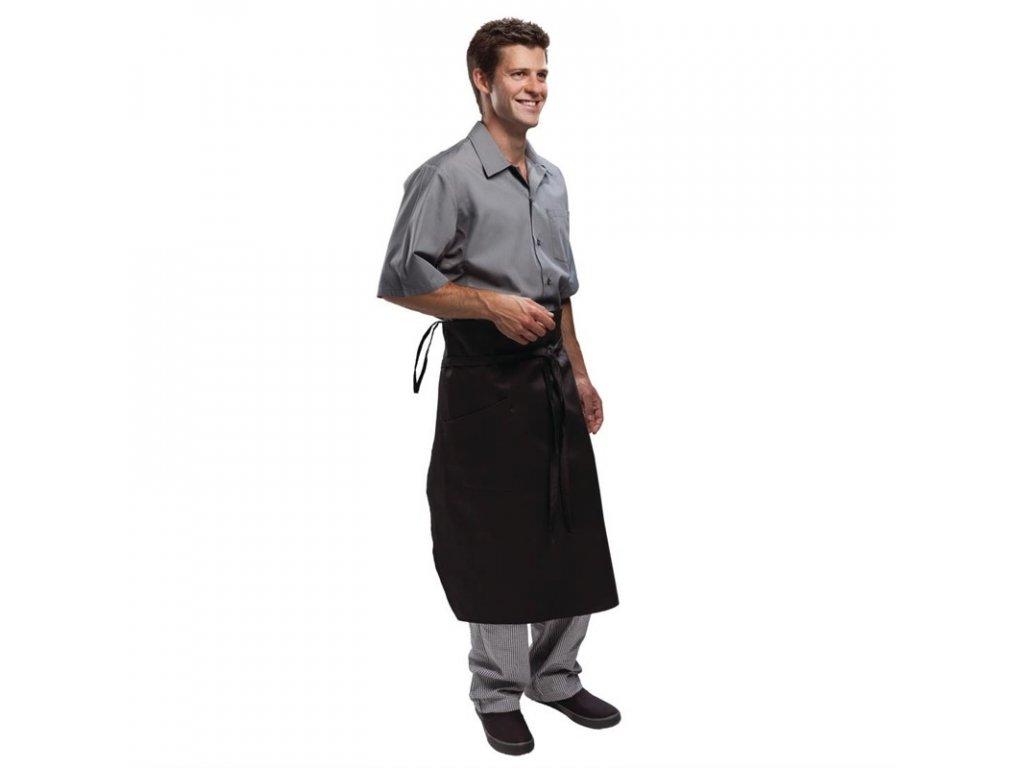 Chef Works zástěra Memphis zúžená černá