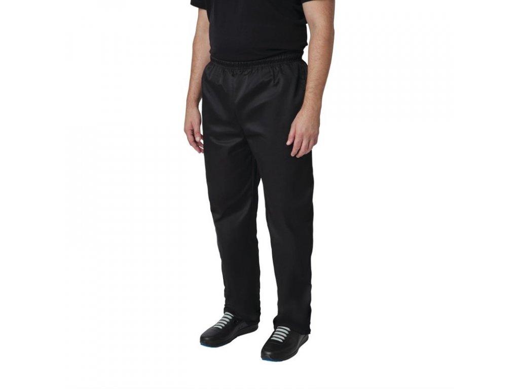Whites kuchařské kalhoty Vegas černé z polybavlny