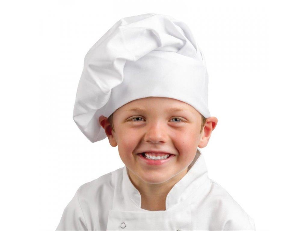 Whites dětská kuchařská čepice bílá