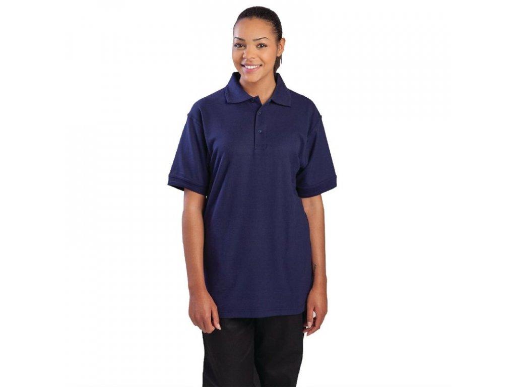 Unisex polo tričko námořnická modrá