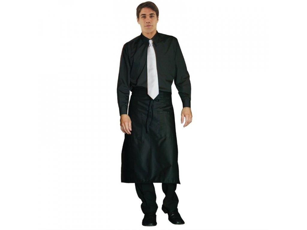 Uniform Works unisex smokinková košile s dlouhými rukávy černá