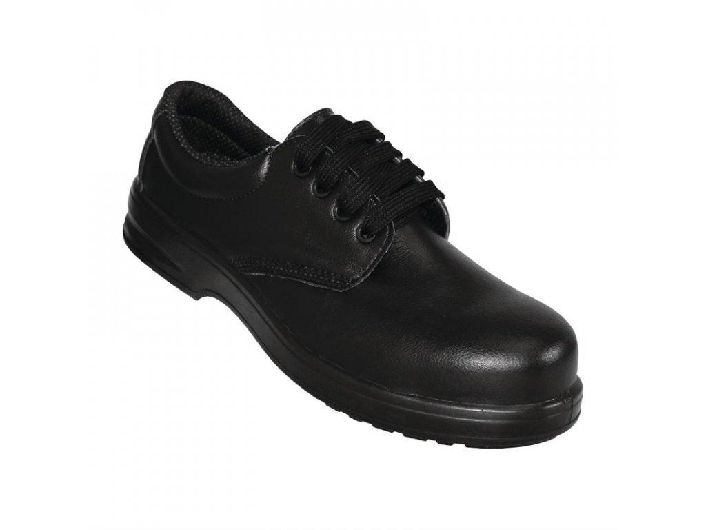 Lites bezpečnostní šněrovací obuv černá