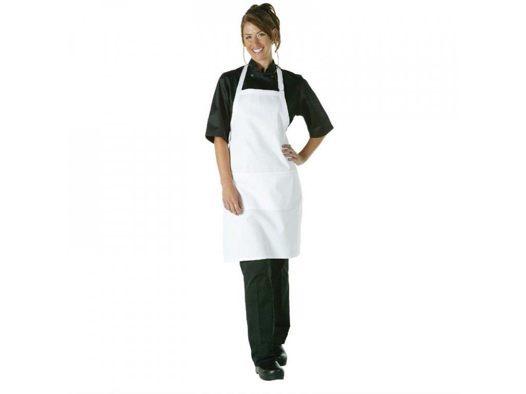 Chef Works náprsní zástěra bílá