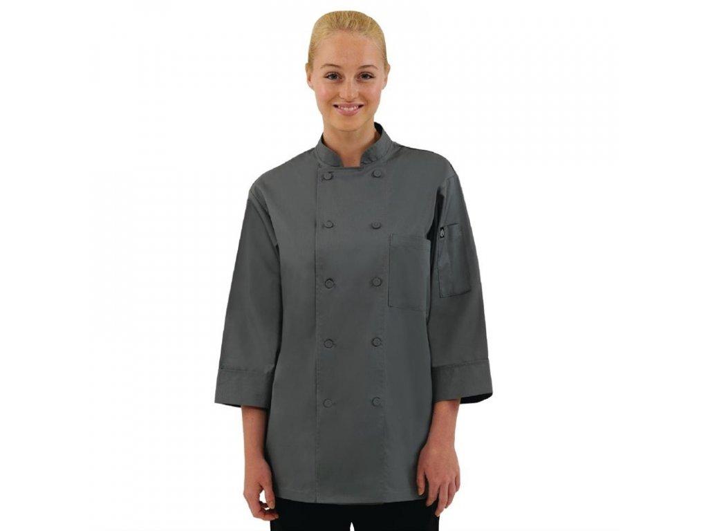 Colour by Chef Works unisex kuchařský rondon šedý