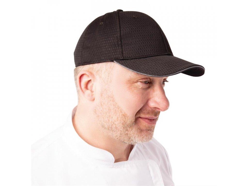 Colour by Chef Works Baseballová čepice Cool Vent™ s šedým lemem