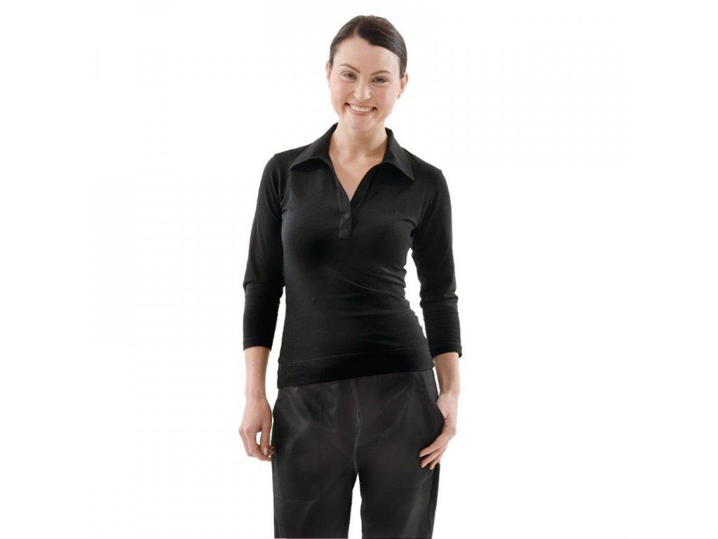 Uniform Works dámské tričko s výstřihem do V černé