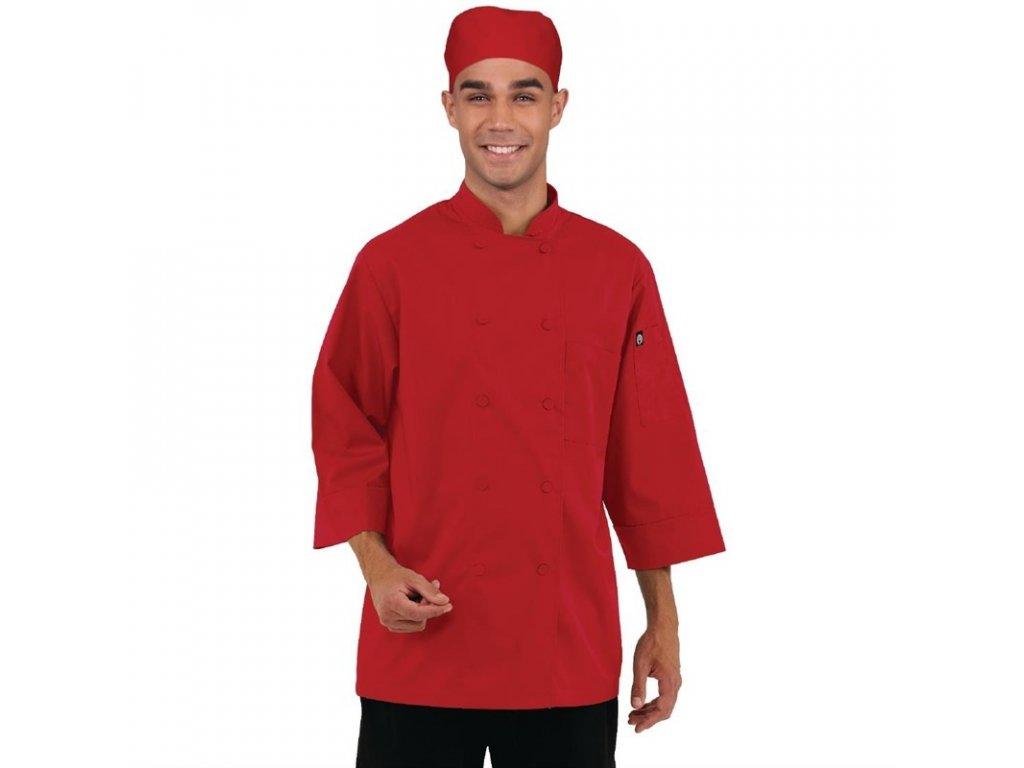 Colour by Chef Works unisex kuchařský rondon červený