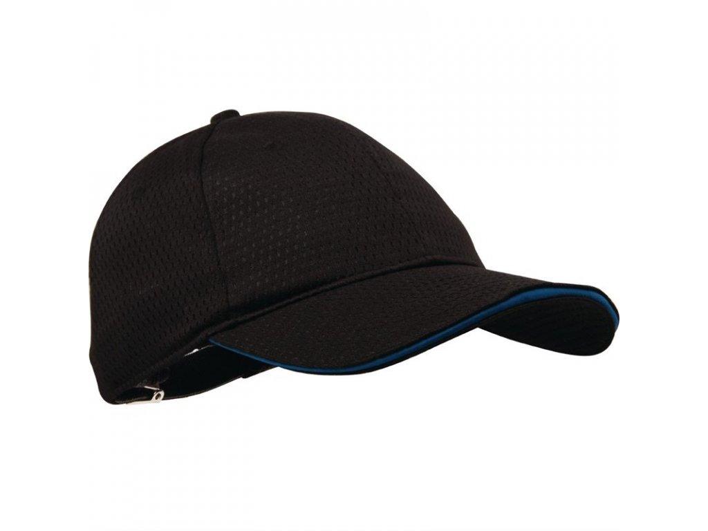 Colour by Chef Works baseballová čepice Cool Vent™ černá s modrým lemem