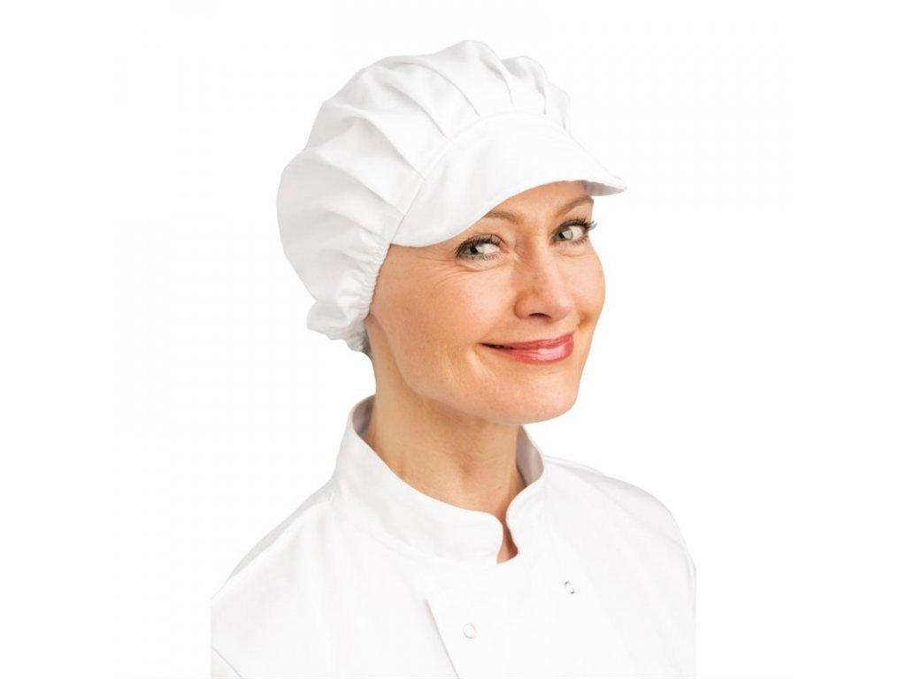Whites čepice s kšiltem bílá