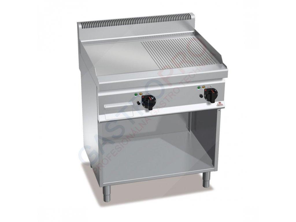 Bertos elektrická grilovacia platňa - hladká/ryhovaná