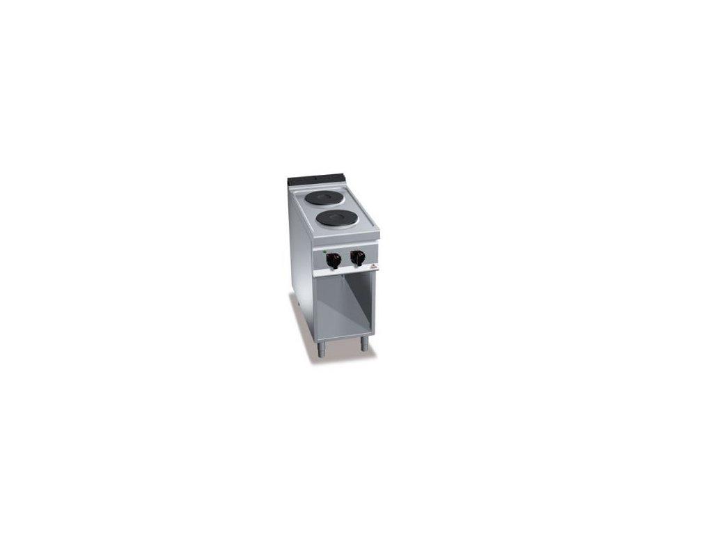 Bertos 2- platňový elektrický sporák bez rúry