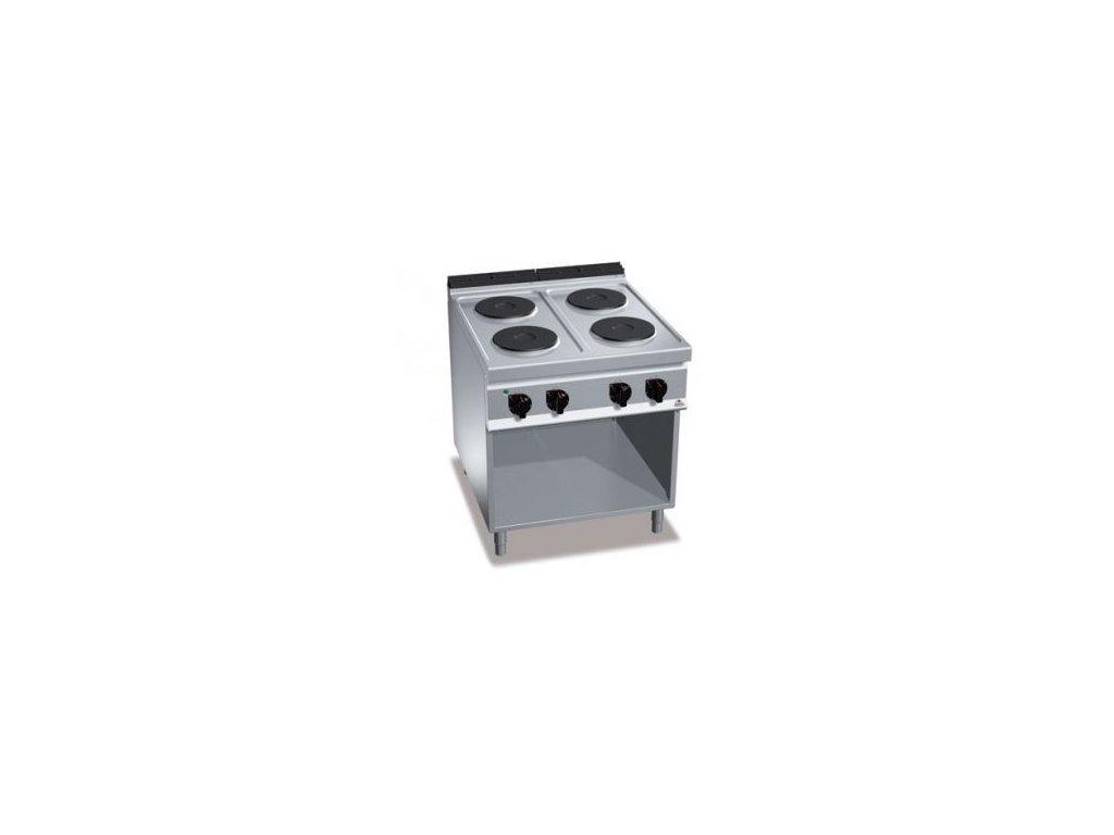 Bertos 4- platňový elektrický sporák bez rúry