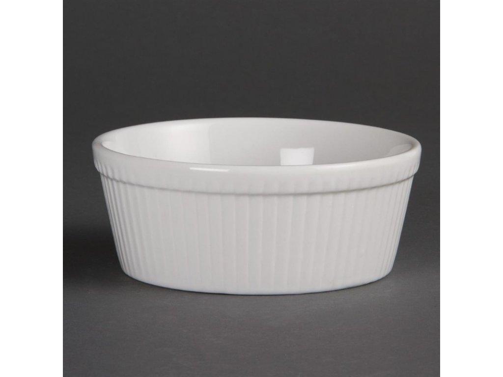 Olympia kulaté mísy na koláč Whiteware 134mm