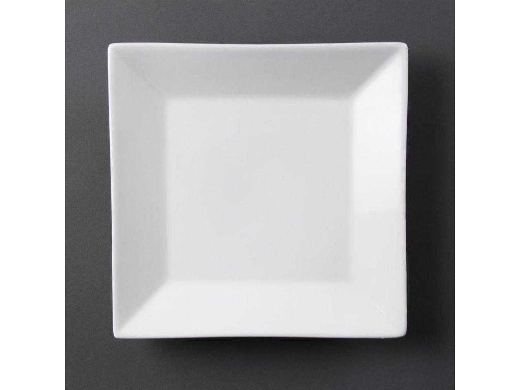 Olympia čtvercové talíře Whiteware se širokým okrajem 250mm
