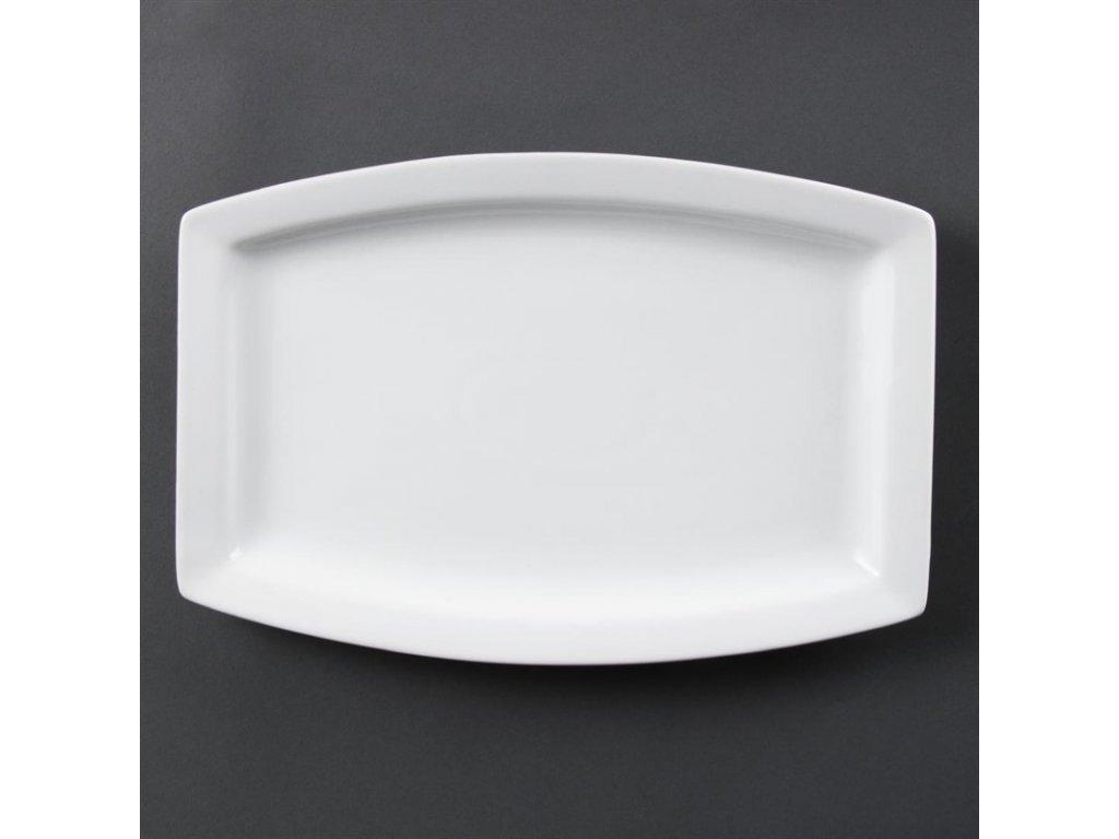 Olympia obdélníkové talíře Whiteware 320mm