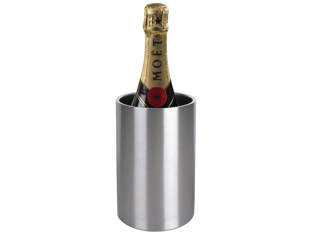 Olympia chladič na víno a sekt, nerezový kartáčovaný