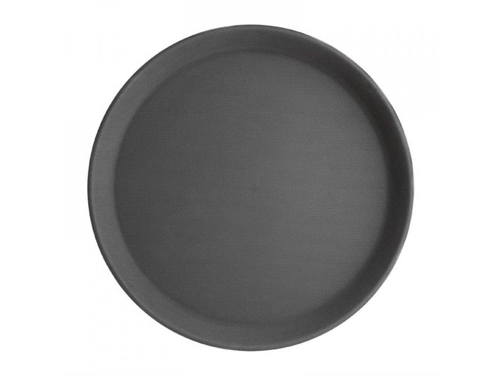 Kristallon kulatý protiskluzový tác plastový černý 356mm