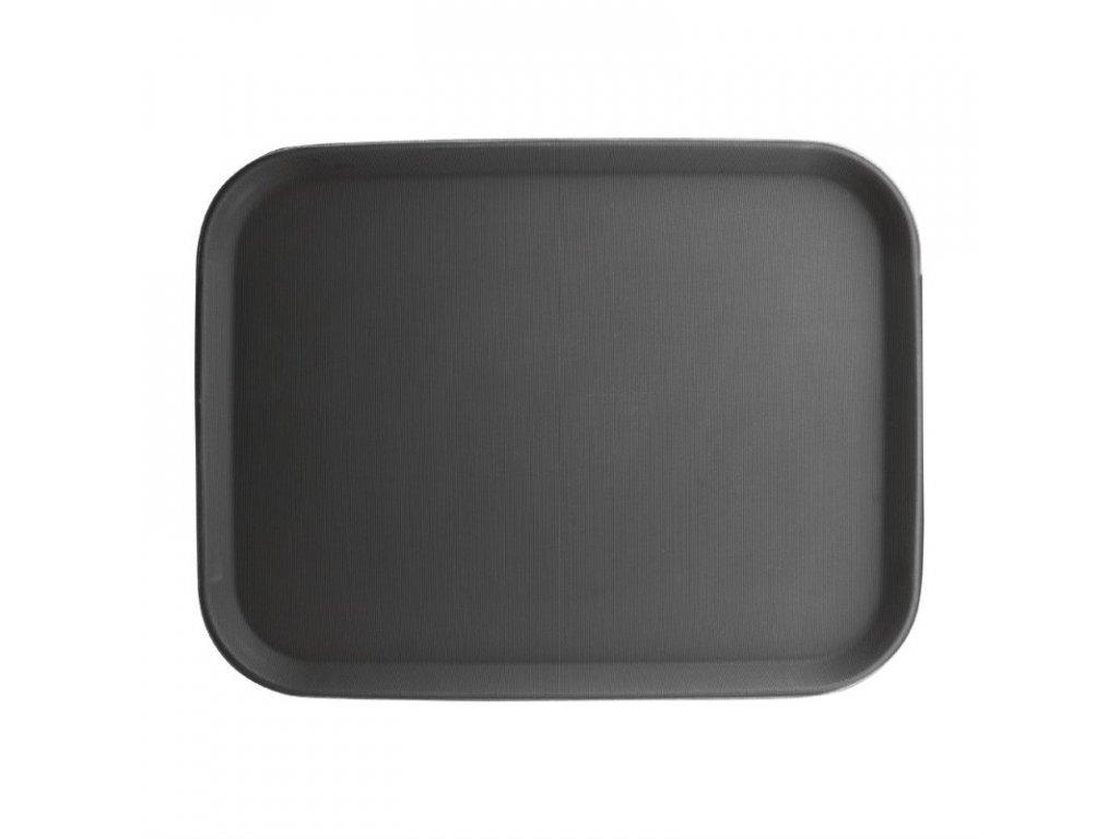 Kristallon protiskluzový tác plastový černý 356 x 458mm