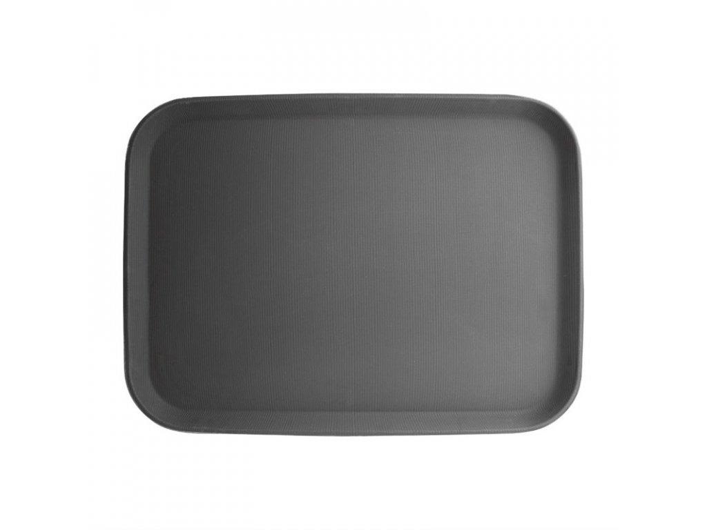 Kristallon protiskluzový tác plastový černý 380 x 510mm