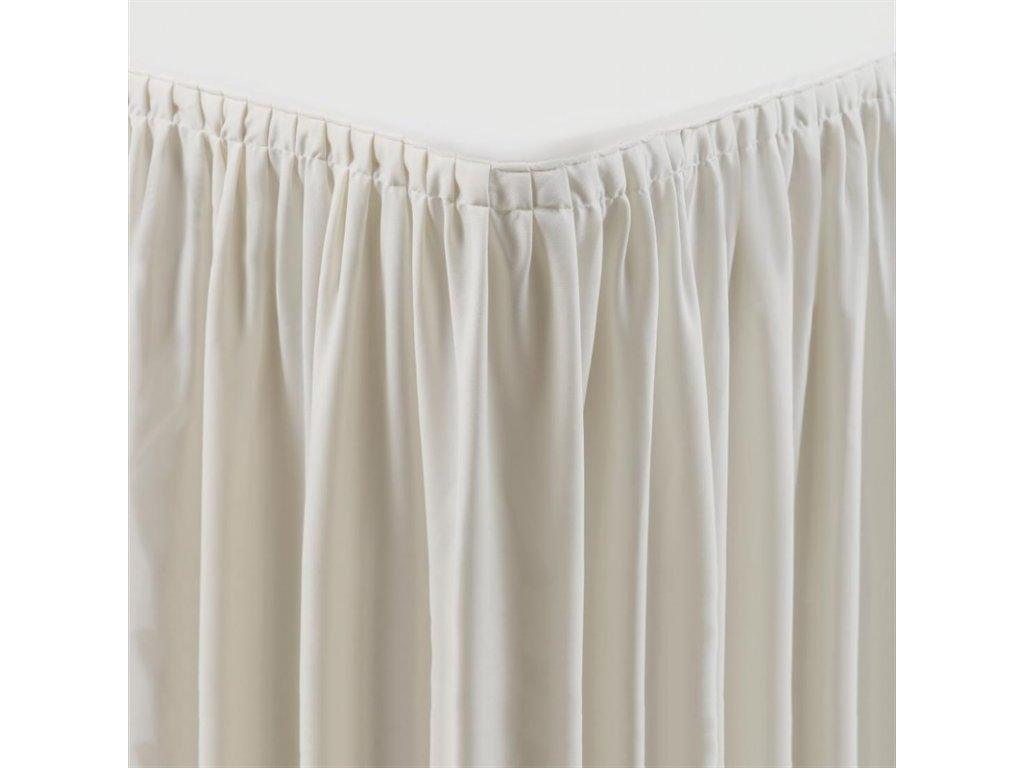 Smetanový potah na stůl a stolní sukně – plisovaný styl
