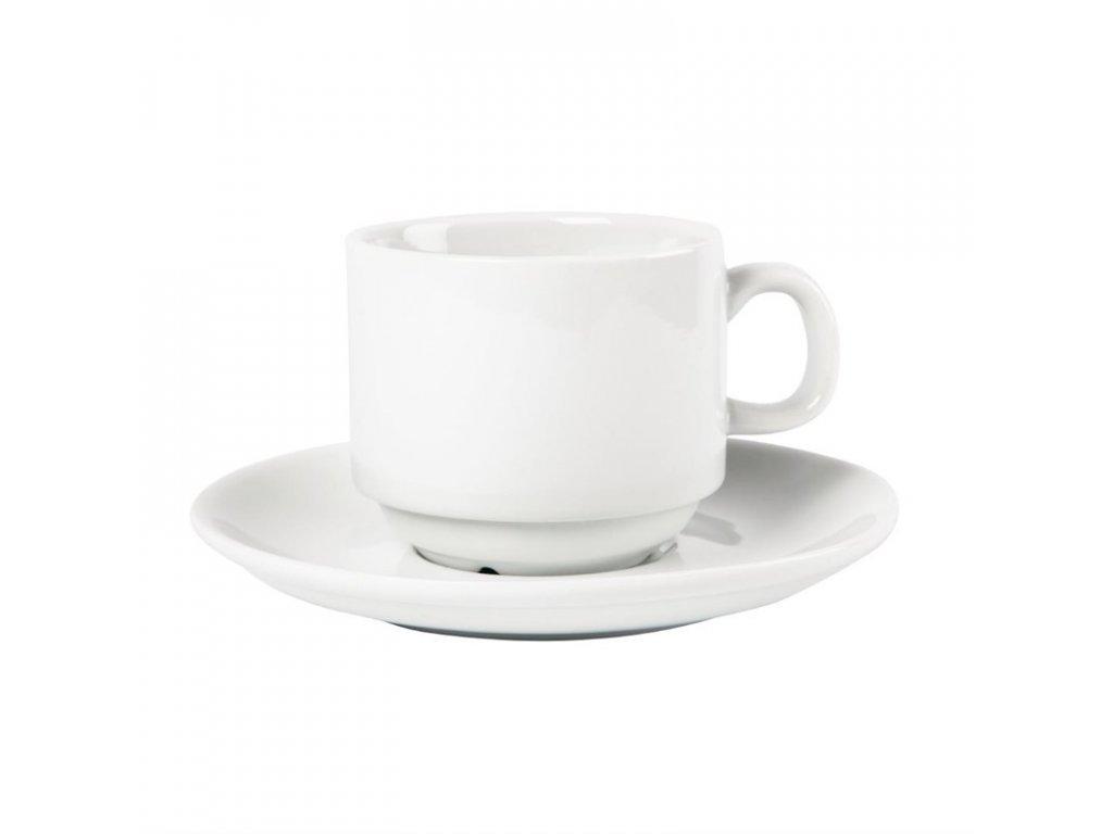 Olympia stohovatelné šálky na čaj Whiteware 200ml