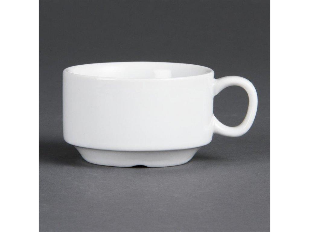 Olympia stohovatelné šálky na espresso Whiteware 85ml