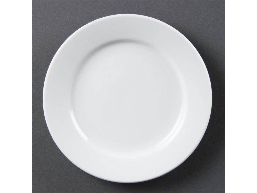 Olympia talíře Whiteware se širokým okrajem 165mm