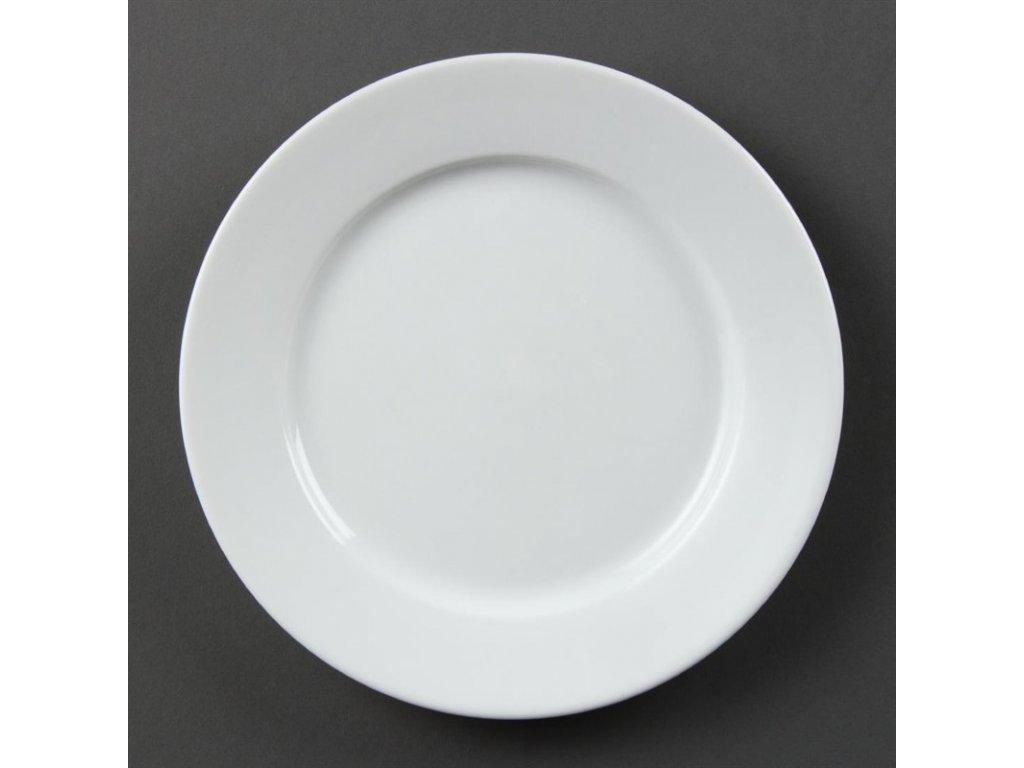 Olympia talíře Whiteware se širokým okrajem 202mm