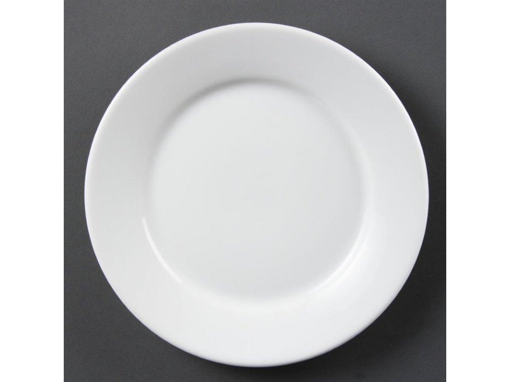 Olympia talíře Whiteware se širokým okrajem 230mm