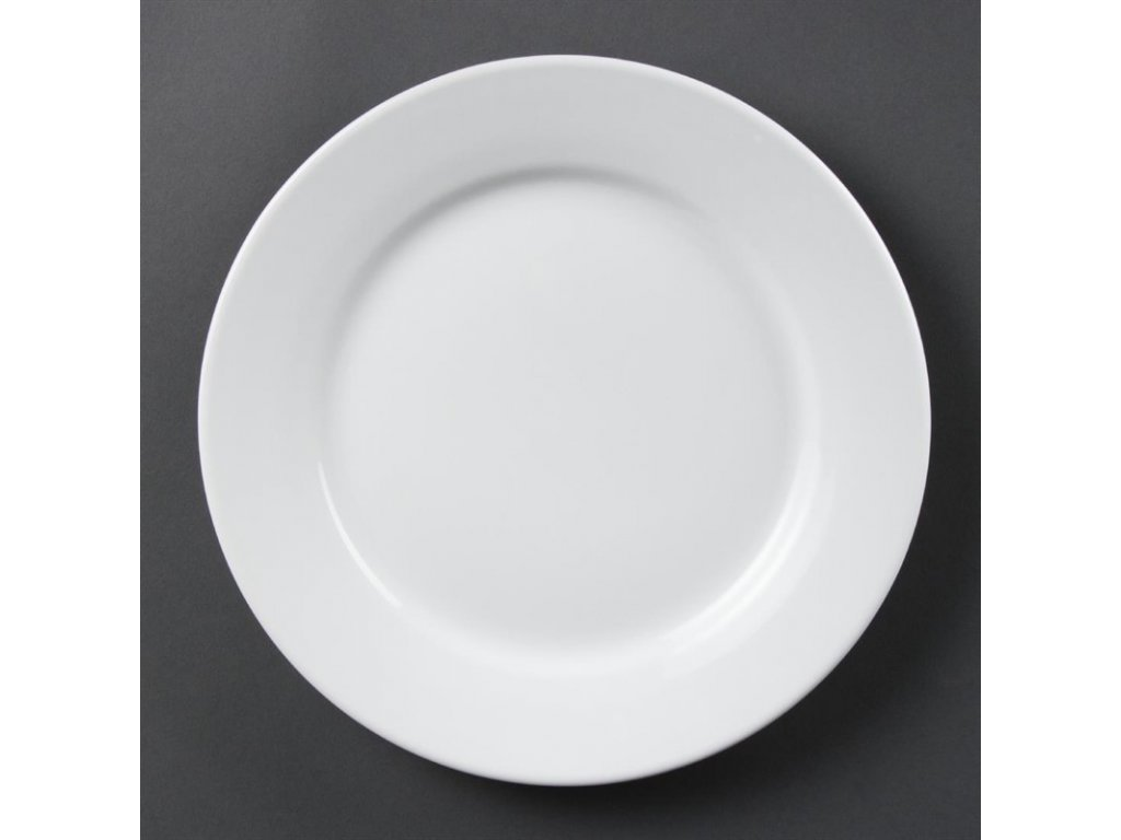 Olympia talíře Whiteware se širokým okrajem 250mm