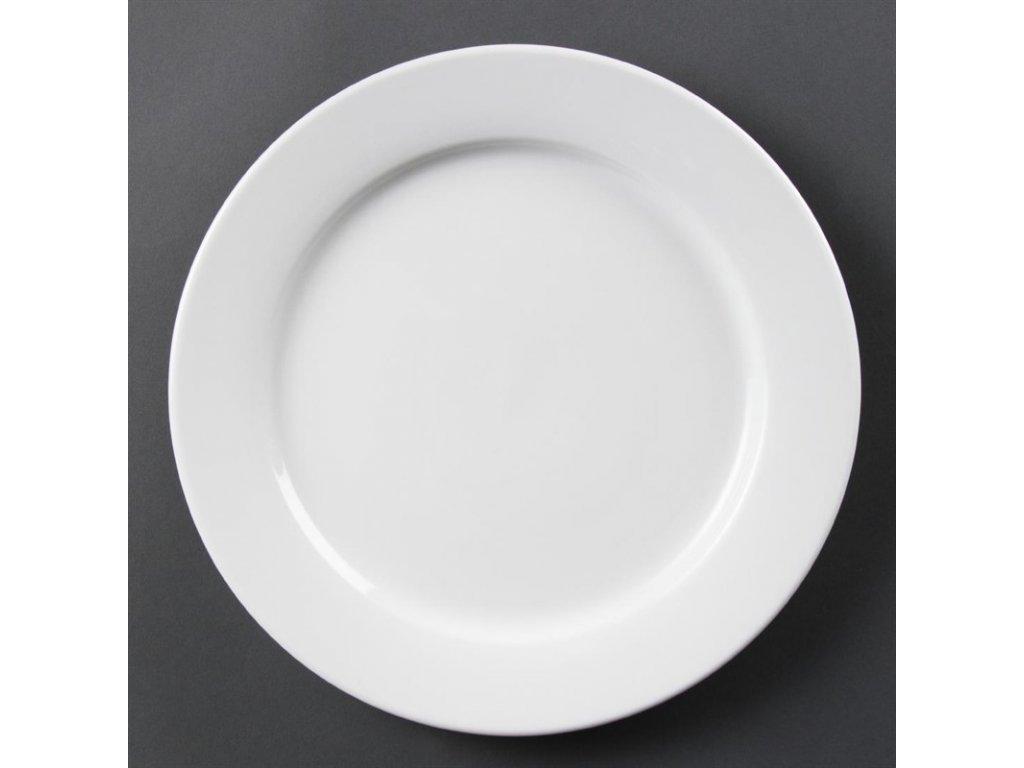Olympia talíře Whiteware se širokým okrajem 280mm