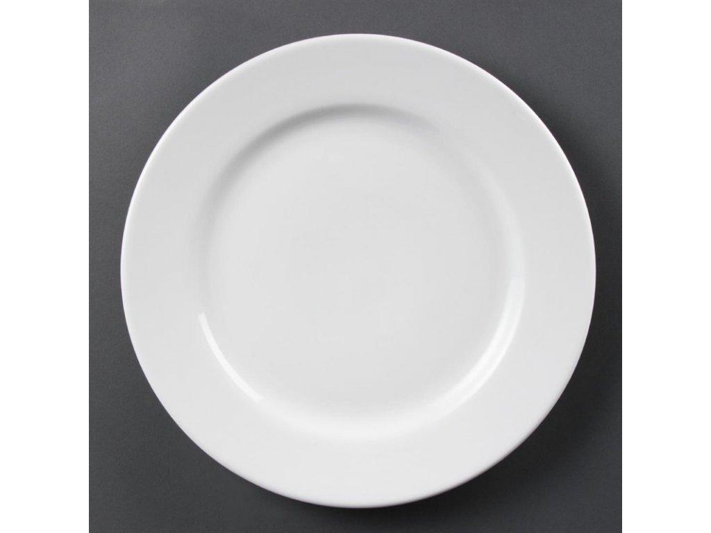 Olympia talíře Whiteware se širokým okrajem 310mm