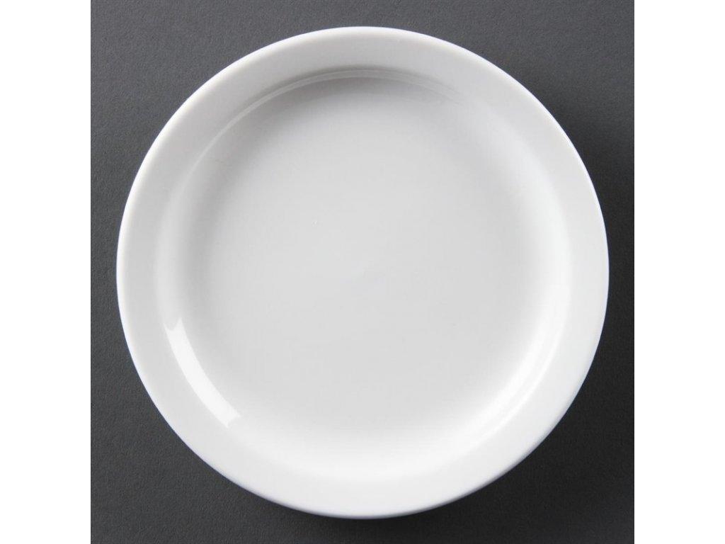 Olympia talíře Whiteware s úzkým okrajem 150mm