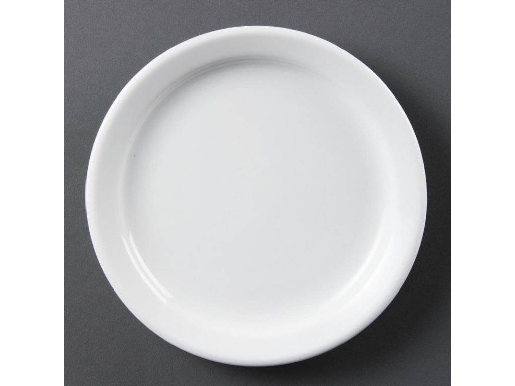 Olympia talíře Whiteware s úzkým okrajem 180mm