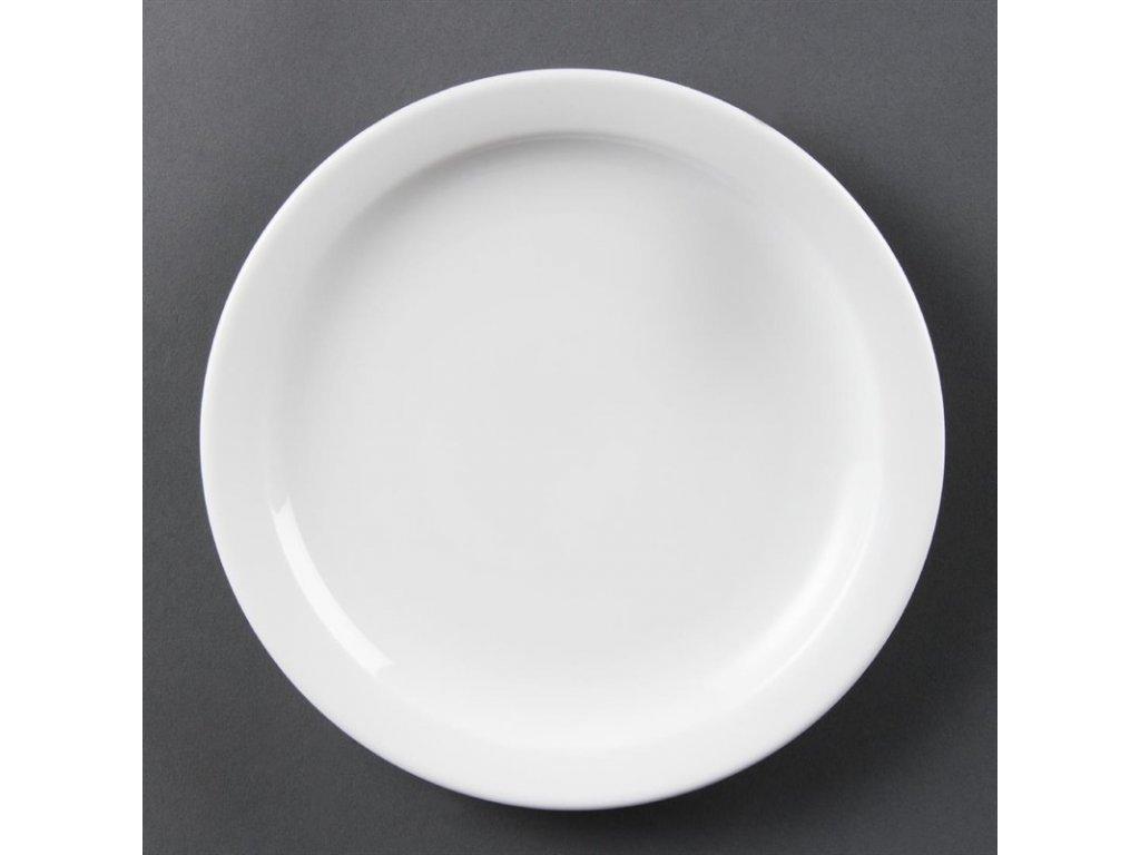 Olympia talíře Whiteware s úzkým okrajem 202mm