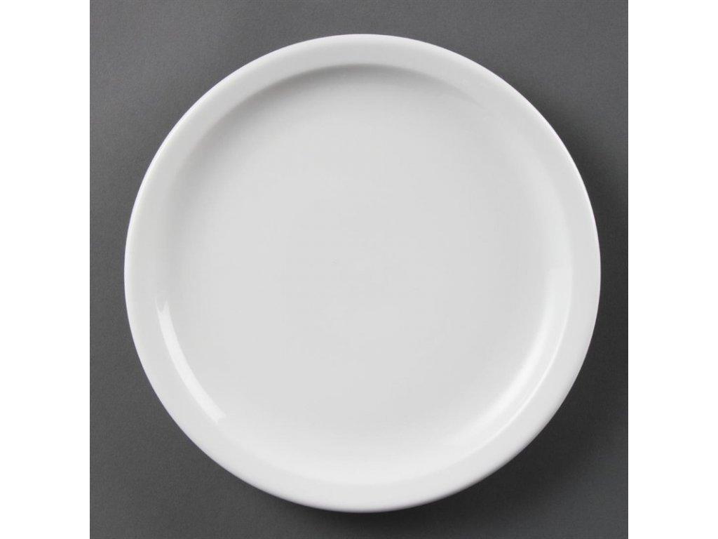 Olympia talíře Whiteware s úzkým okrajem 230mm