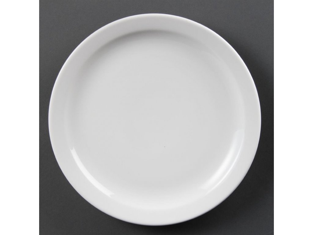 Olympia talíře Whiteware s úzkým okrajem 250mm