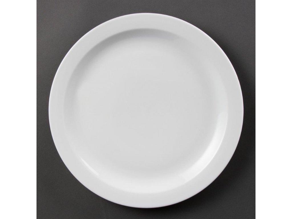 Olympia talíře Whiteware s úzkým okrajem 280mm