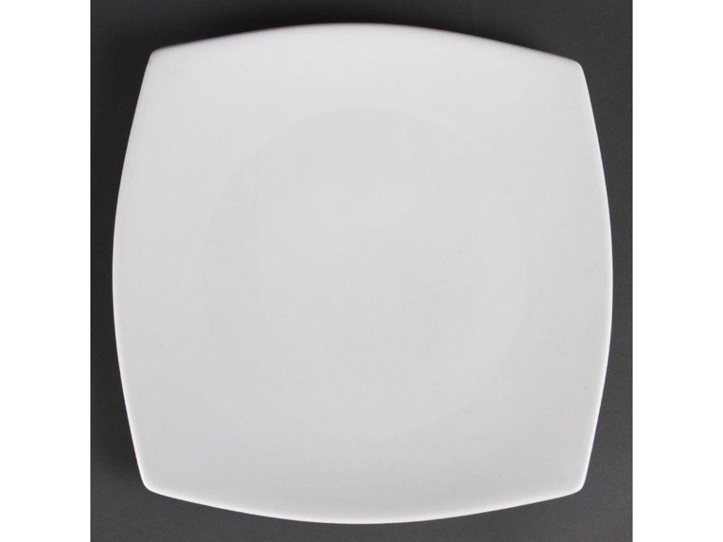 Olympia zaoblené čtvercové talíře Whiteware 270mm