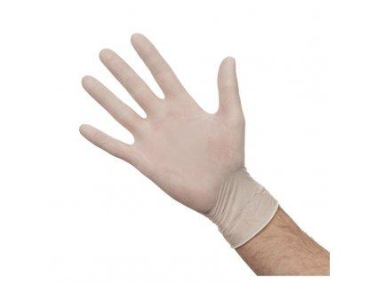 Latexové rukavice pudrované