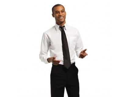 Uniform Works unisex košile s dlouhými rukávy bílá