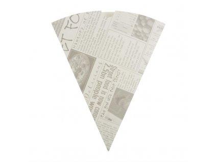 Jednorázové kornouty na hranolky papírové s novinovým potiskem