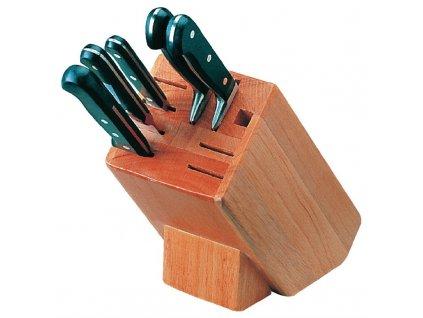 Vogue dřevěný stojan na nože s 9 otvory