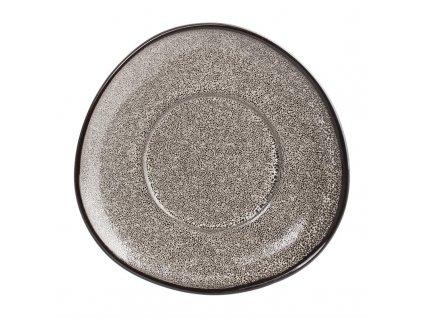 Olympia Mineral trojúhelníkový podšálek na cappuccino šedý 150mm