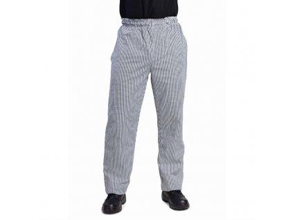 Whites unisex kuchařské kalhoty Vegas černobílé kostkované