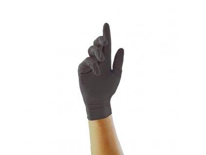Nitrilové potravinárske rukavice Pearl - čierne, veľkosť M
